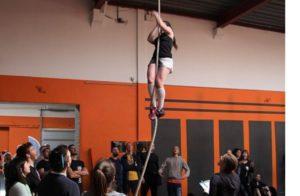 Rope climb Flavie